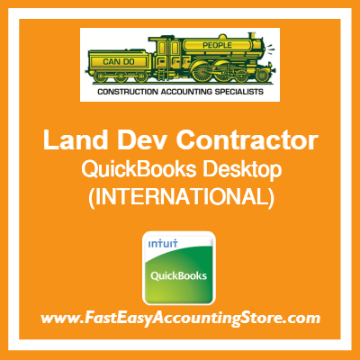 Land Development Contractor QuickBooks Setup Desktop Template International