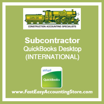 Subcontractor QuickBooks Setup Desktop Template International