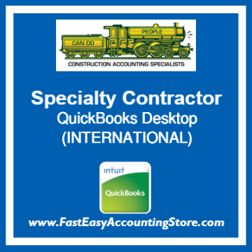 Specialty Contractor QuickBooks Setup Desktop Template International