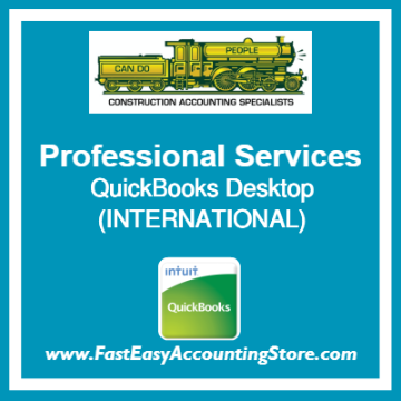 Professional Services QuickBooks Setup Desktop Template International