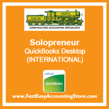 Solopreneur QuickBooks Setup Desktop Template International