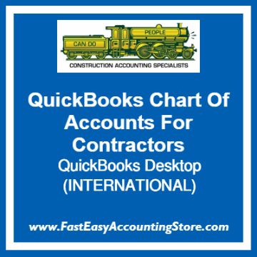 QuickBooks Chart Of Accounts Desktop Template For International Contractors