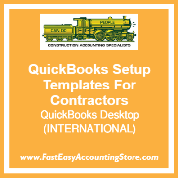 QuickBooks Set Up Desktop Templates For International Contractors