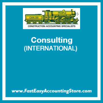 Fast Easy Accounting Store Consulting Services For International Contractors