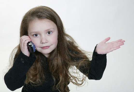 child on mobile phone radiation
