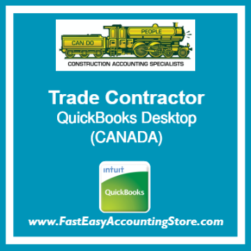 Trade Contractor QuickBooks Setup Desktop Template Canada