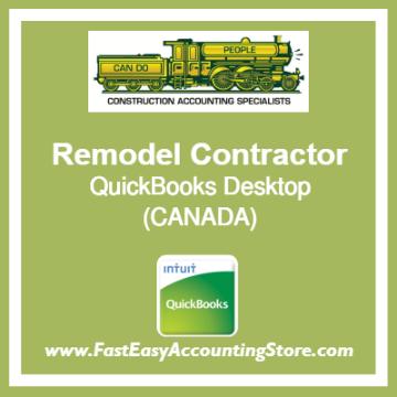 Remodel Contractor QuickBooks Setup Desktop Template Canada