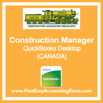 Construction Manager QuickBooks Setup Desktop Template Canada