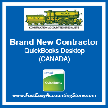 Brand New Contractor QuickBooks Setup Desktop Template Canada