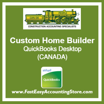 Custom Home Builder QuickBooks Setup Desktop Template Canada