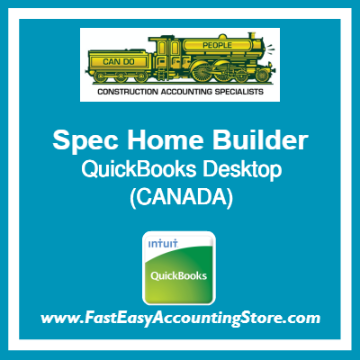 Spec Home Builder QuickBooks Setup Desktop Template Canada