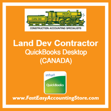 Land Development Contractor QuickBooks Setup Desktop Template Canada