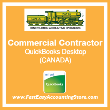 Commercial Contractor QuickBooks Setup Desktop Template Canada