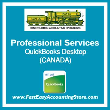 Professional Services QuickBooks Setup Desktop Template Canada