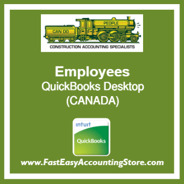 Employees QuickBooks Setup Desktop Template Canada