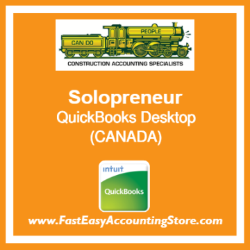 Solopreneur QuickBooks Setup Desktop Template Canada