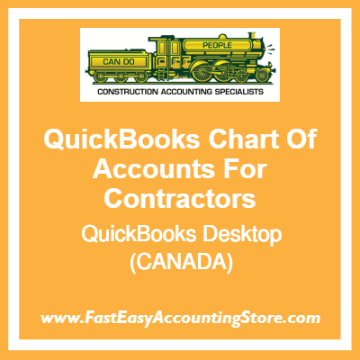 QuickBooks Chart Of Accounts Desktop Template For Contractors Based In Canada