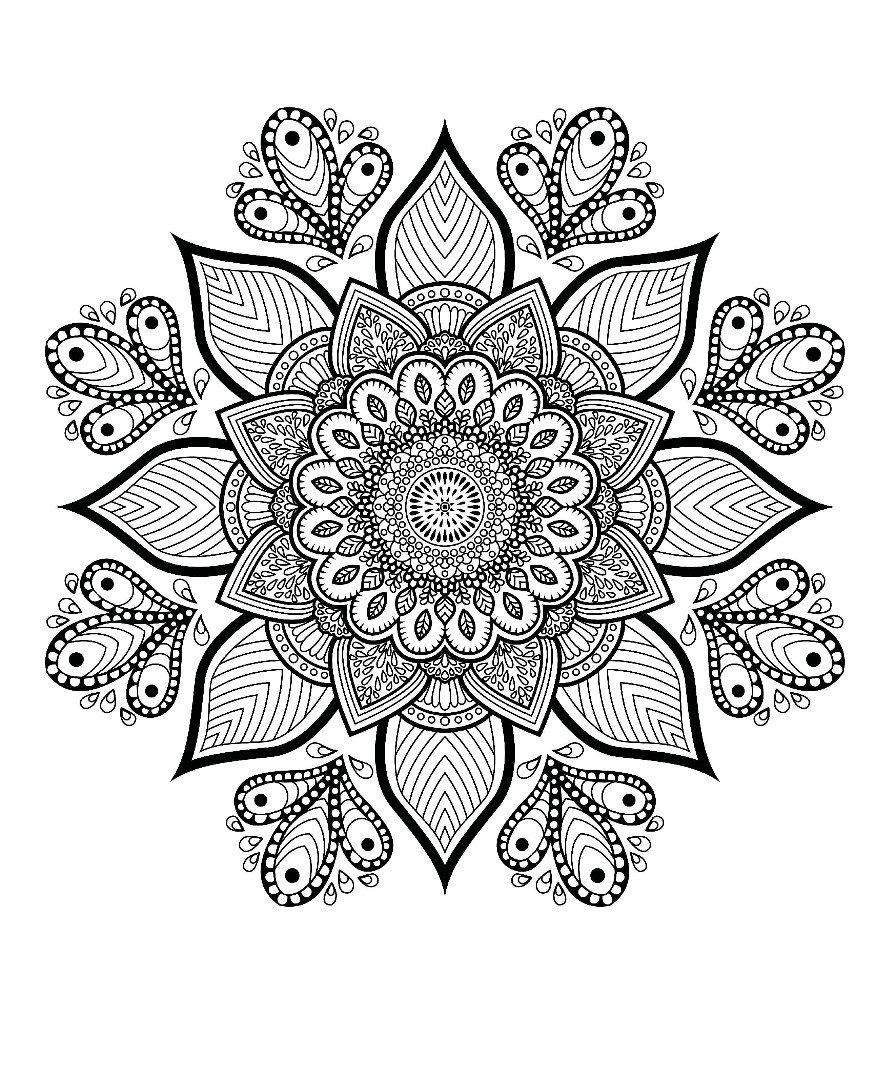 introducing mandalas to color. Black Bedroom Furniture Sets. Home Design Ideas