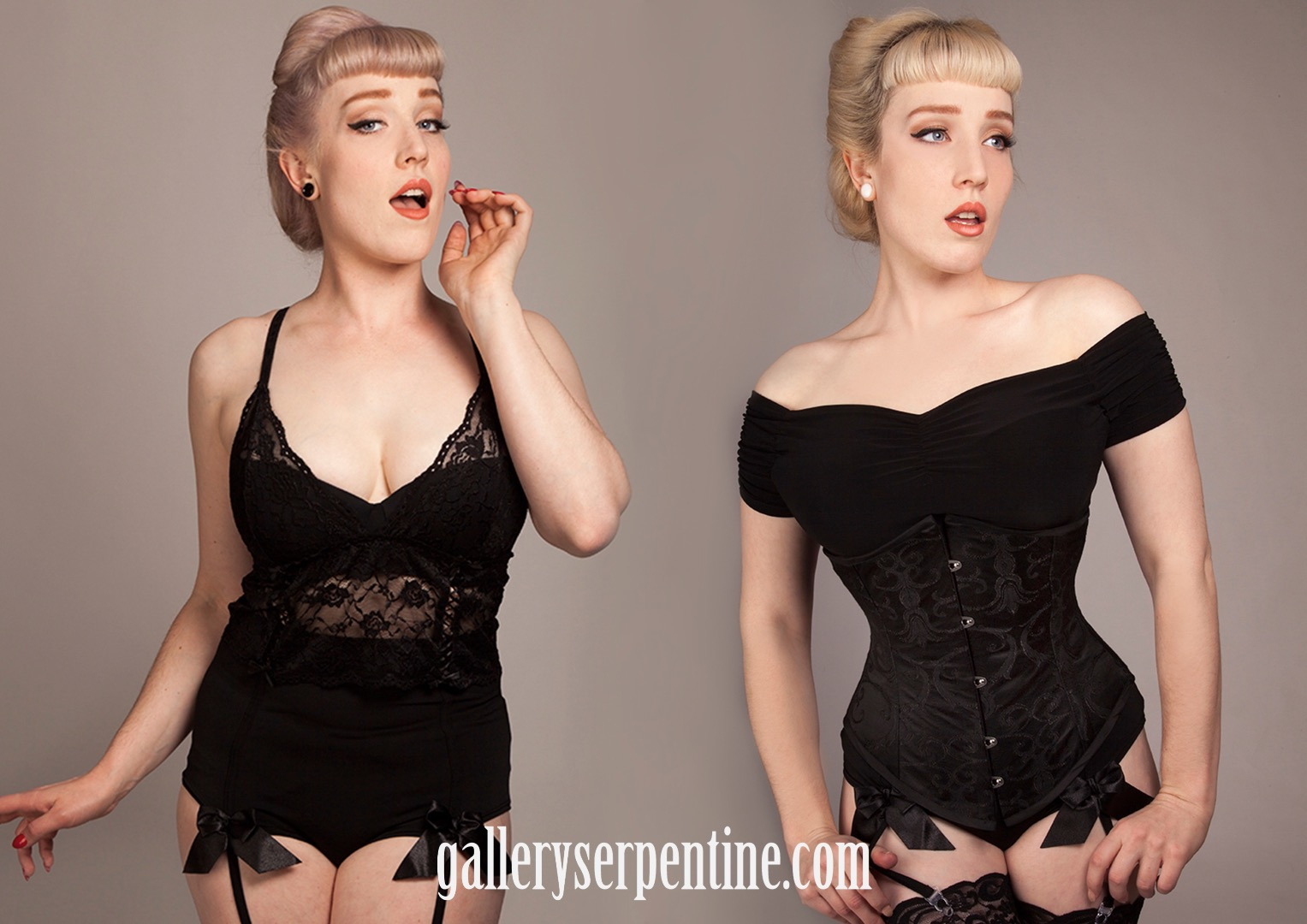 The wonderful and versatile Underbust Victorian corset in a before & after