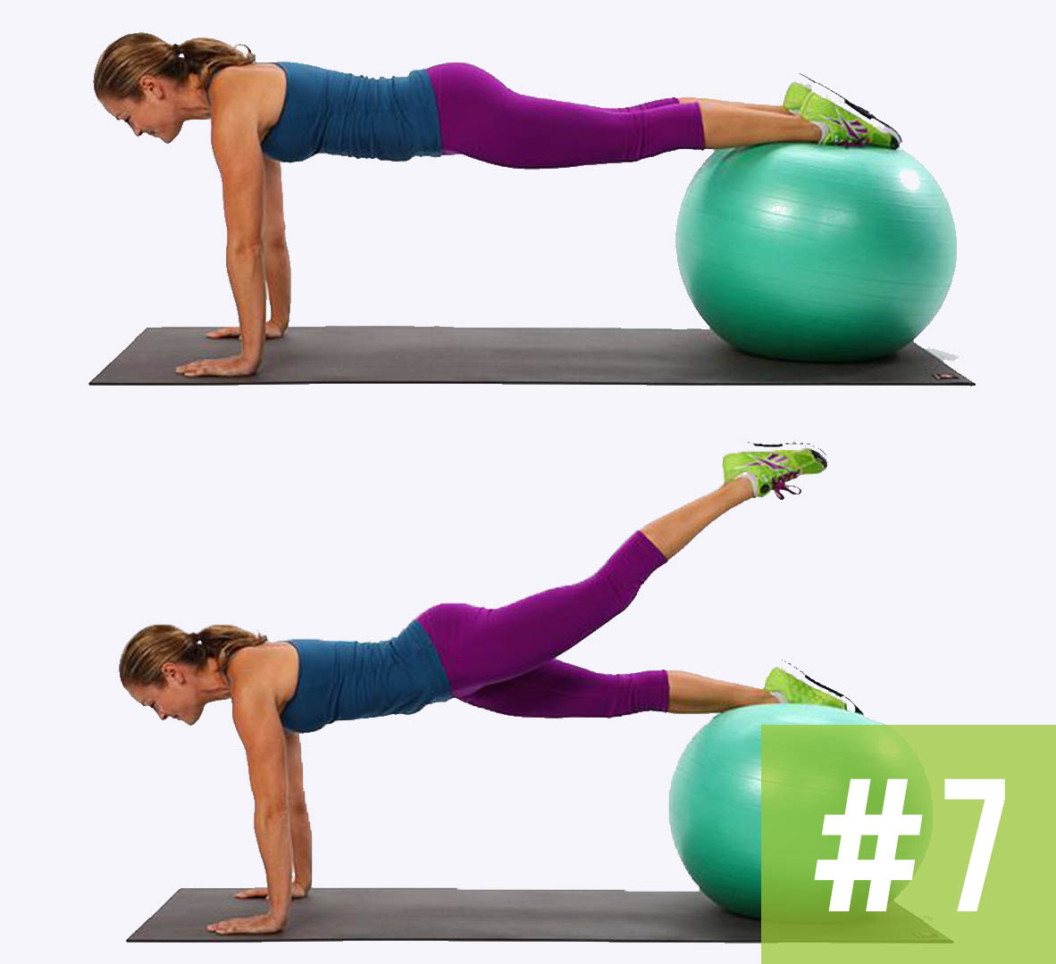 Flat Abs Exercise Ball Workout