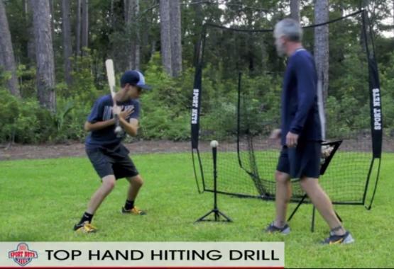 Top Hand Hitting Drill