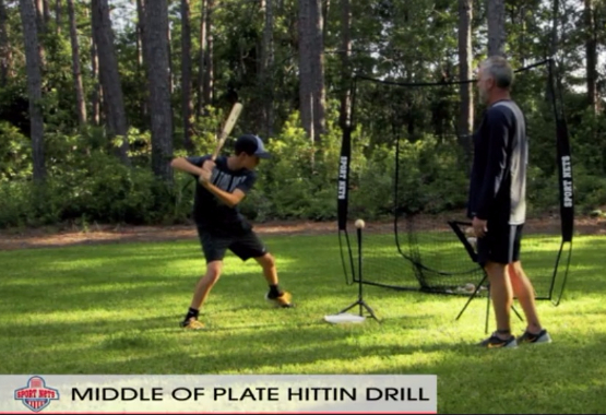 Middle Of The Plate Hitting Drill