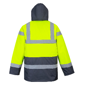 Hi Vis Contrast Traffic Jacket | Multi-Color | Yellow Navy