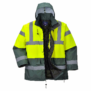 Hi Vis Contrast Traffic Jacket | Multi-Color | Yellow Green