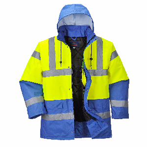 Hi Vis Contrast Traffic Jacket | Multi-Color | Royal Blue