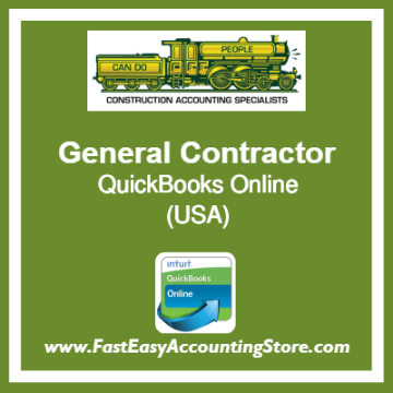 General Contractor QuickBooks Online Template USA