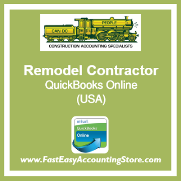 Remodel Contractor QuickBooks Online Template USA