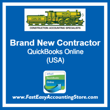 Brand New Contractor QuickBooks Online Template USA