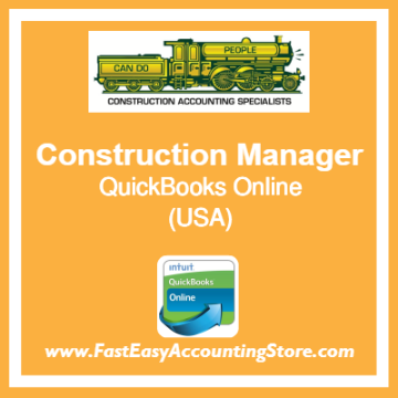 Construction Manager QuickBooks Online Template USA