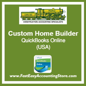 Custom Home Builder QuickBooks Online Template USA