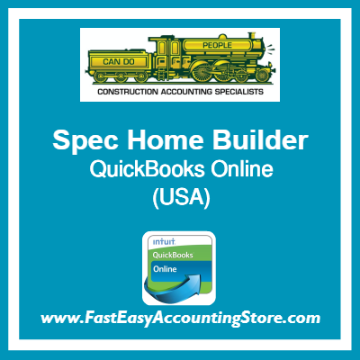 Spec Home Builder QuickBooks Online Template USA