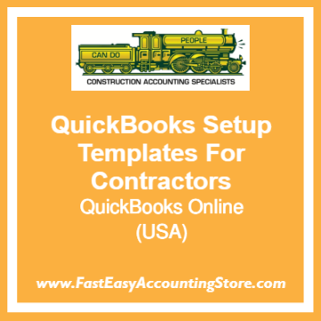 QuickBooks Online Setup Templates For USA Contractors