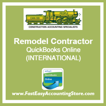 Remodel Contractor QuickBooks Online Setup Template International