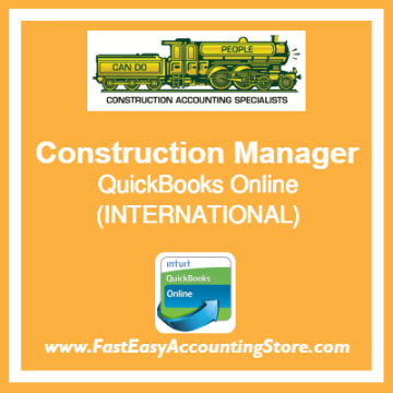 Construction Manager QuickBooks Online Setup Template International