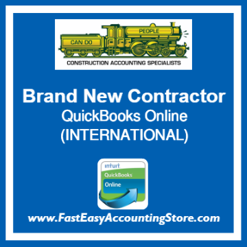 Brand New Contractor QuickBooks Online Setup Template International