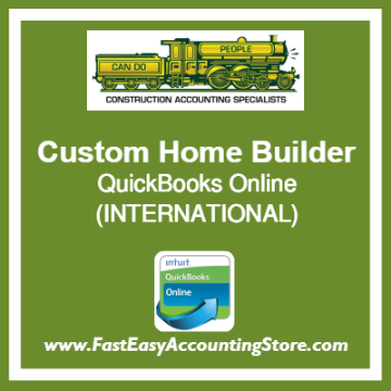 Custom Home Builder QuickBooks Online Setup Template International