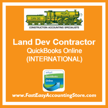 Land Development Contractor QuickBooks Online Setup Template International