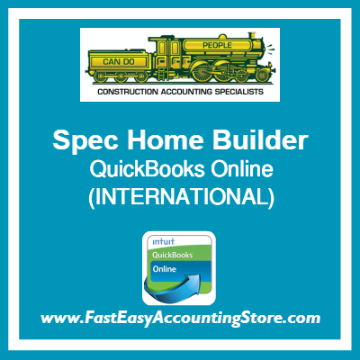 Spec Home Builder QuickBooks Online Setup Template International