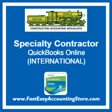 Specialty Contractor QuickBooks Online Setup Template International