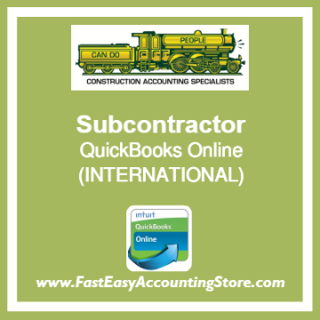 Subcontractor QuickBooks Online Setup Template International