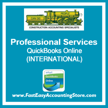 Professional Services QuickBooks Online Setup Template International