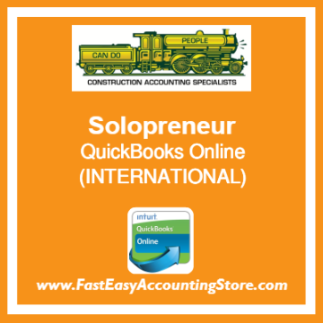 Solopreneur QuickBooks Online Setup Template International