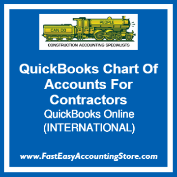 QuickBooks Chart Of Accounts Online Template For International Contractors