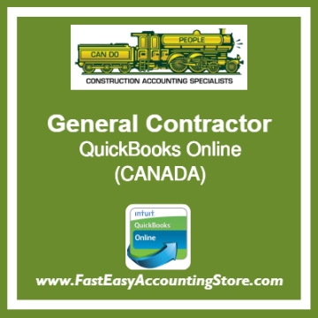 General Contractor QuickBooks Setup Online Chart Of Accounts Canada