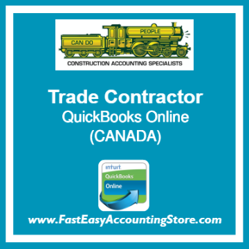 Trade Contractor QuickBooks Online Chart Of Accounts Template Canada