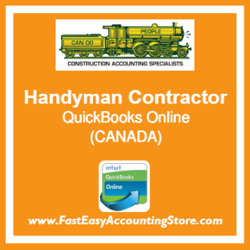 Handyman Contractor QuickBooks Online Chart Of Accounts Template Canada